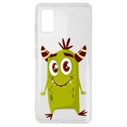 Чохол для Samsung A41 Cute green monster