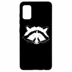 Чохол для Samsung A41 Cute raccoon face