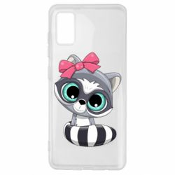 Чехол для Samsung A41 Cute raccoon