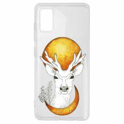 Чехол для Samsung A41 Deer and moon