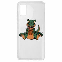 Чехол для Samsung A41 Dinosaur and basketball