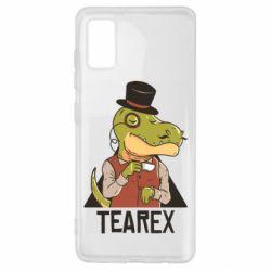 Чохол для Samsung A41 Dinosaur with tea
