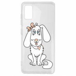 Чехол для Samsung A41 Dog with a bow