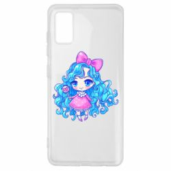 Чохол для Samsung A41 Doll with blue hair