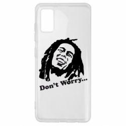 Чехол для Samsung A41 Don't Worry (Bob Marley)