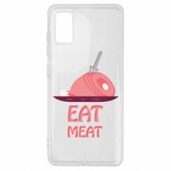 Чехол для Samsung A41 Eat meat