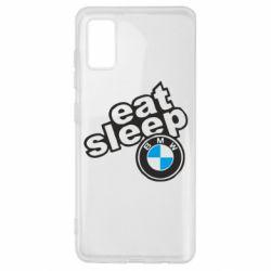 Чохол для Samsung A41 Eat, sleep, BMW