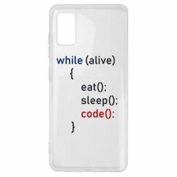 Чохол для Samsung A41 Eat, Sleep, Code