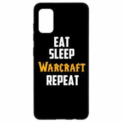 Чехол для Samsung A41 Eat sleep Warcraft repeat