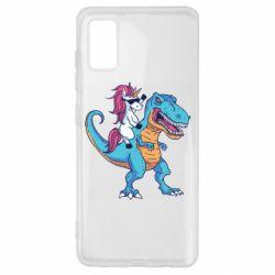 Чохол для Samsung A41 Єдиноріг і динозавр