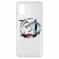 Чехол для Samsung A41 Emblem wolf and text The Witcher