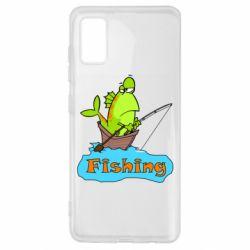 Чехол для Samsung A41 Fish Fishing