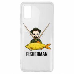 Чохол для Samsung A41 Fisherman and fish