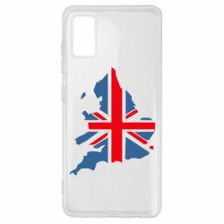 Чехол для Samsung A41 Флаг Англии