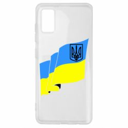 Чехол для Samsung A41 Флаг Украины с Гербом