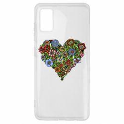 Чохол для Samsung A41 Flower heart