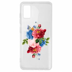 Чохол для Samsung A41 Flowers and butterfly