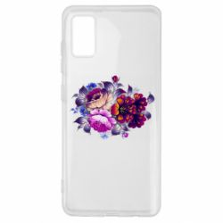 Чехол для Samsung A41 Flowers in a cold shade