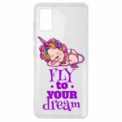 Чохол для Samsung A41 Fly to your dream and lion