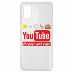 Чохол для Samsung A41 Forever and ever emoji's life youtube