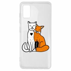 Чохол для Samsung A41 Fox and cat heart