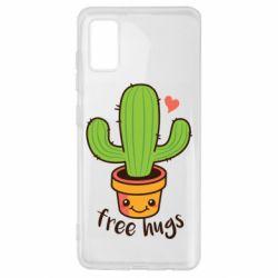 Чехол для Samsung A41 Free Hugs Cactus