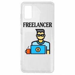 Чехол для Samsung A41 Freelancer text