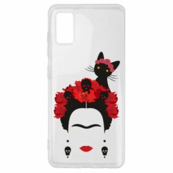 Чохол для Samsung A41 Frida Kalo and cat