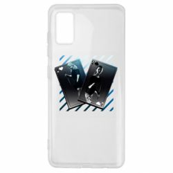 Чехол для Samsung A41 Gambling Cards The Witcher and Cyrilla