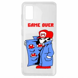 Чехол для Samsung A41 Game Over Mario