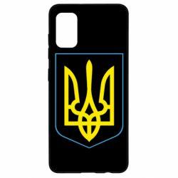 Чехол для Samsung A41 Герб України з рамкою