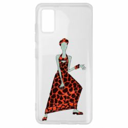Чехол для Samsung A41 Girl in a dress without a face
