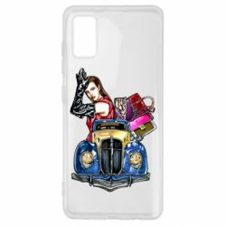 Чехол для Samsung A41 Girl with a retro car