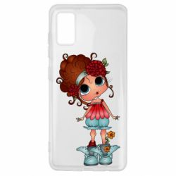 Чехол для Samsung A41 Girl with big eyes