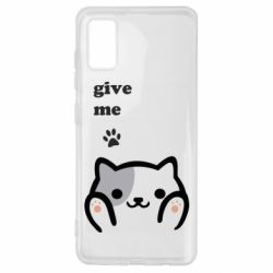 Чохол для Samsung A41 Give me cat