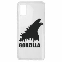 Чохол для Samsung A41 Godzilla and city