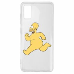 Чехол для Samsung A41 Голый Гомер Симпсон