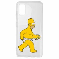 Чехол для Samsung A41 Гомер Симпсон в трусиках