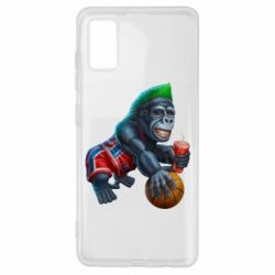 Чехол для Samsung A41 Gorilla and basketball ball