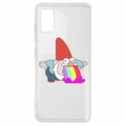 Чохол для Samsung A41 Gravity Falls, dwarf and rainbow