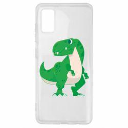 Чохол для Samsung A41 Green little dinosaur