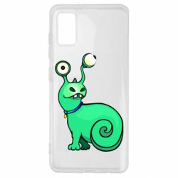 Чехол для Samsung A41 Green monster snail
