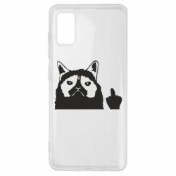 Чохол для Samsung A41 Grumpy cat F**k Off