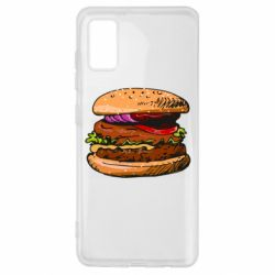 Чехол для Samsung A41 Hamburger hand drawn vector