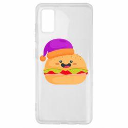 Чехол для Samsung A41 Happy hamburger