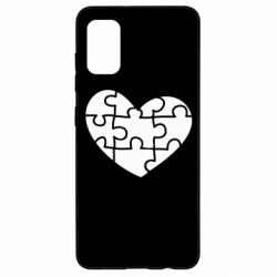 Чехол для Samsung A41 Heart and puzzle