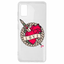 Чехол для Samsung A41 Heart with sword