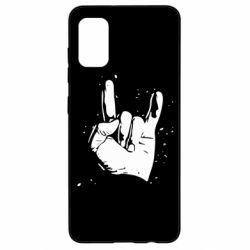 Чехол для Samsung A41 HEAVY METAL ROCK