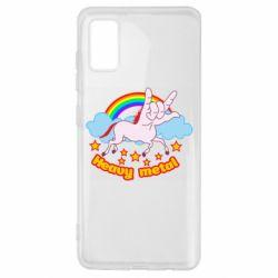 Чохол для Samsung A41 Heavy metal unicorn
