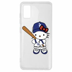 Чохол для Samsung A41 Hello Kitty baseball